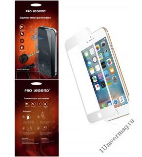 Защитное стекло Pro Legend 3D  для iPhone 6/6S, белое