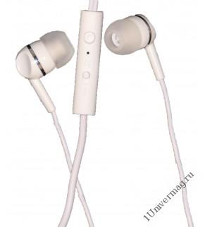 Наушники с микрофоном Pro Legend Sound(белые затычки, 6-23kHz, 102#3dB, 32Ом, кнопка ответа, шнур 1.