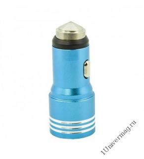 Автомобильное зарядное устройство Pro Legend, 2 USB, металл, 2А
