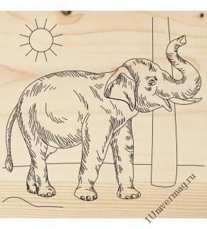 """Доска для выжигания, 1 шт. """"Слон"""""""