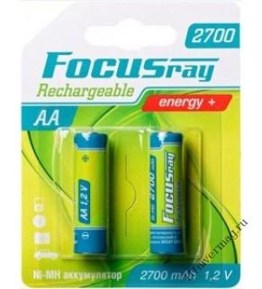 FOCUSray 2700 mAH AA аккумулятор