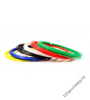 UNID Набор пластика для 3D ручек: PLA-6 (по 10м. 6 цветов)