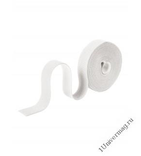 Лента-липучка (стяжка) 5м х 25мм, белая