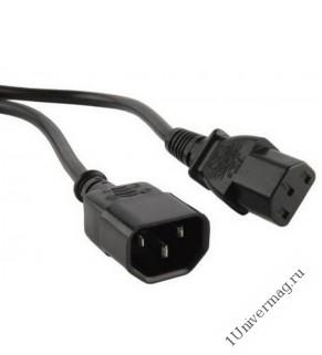 Кабель питания системный блок-монитор, 1.5 м (IEC 320 C13 - IEC 320 C14)