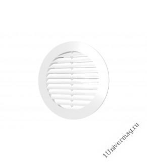 10РК, Решетка вентиляционная круглая D130 вытяжная АБС с фланцем D100, ERA