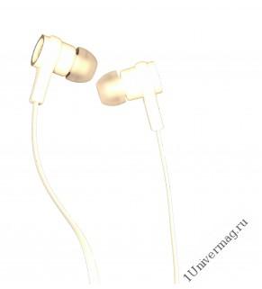 Наушники Pro Legend Bass(Затычки, белые 20-20kHz, 106#3dB, 32 Ом, плоский шнур 1м, gold)