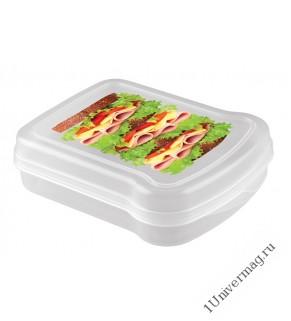 Контейнер для бутербродов с декором 170x130x42