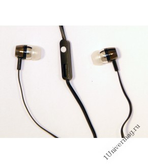 Наушники с микрофоном Pro Legend bass(черные затычки, 18-20kHz, 116#3dB, 32Ом, кнопка ответа, плоски