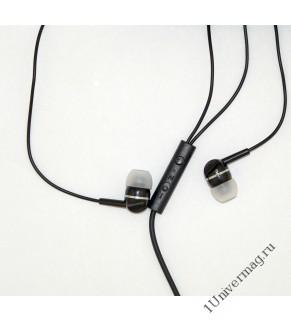 Наушники с микрофоном Pro Legend Sound(черные затычки, 6-23kHz, 102#3dB, 32Ом, кнопка ответа, шнур 1