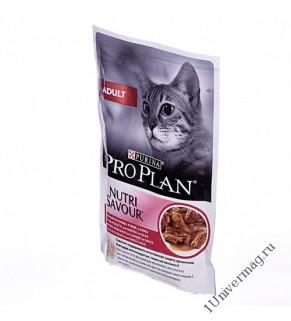 Purina Pro Plan утка в соусе для взрослых кошек, 85гр