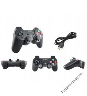 Проводной PS3 Геймпад Oxion OGP04BK, отсоединяемый USB 1.5м, plug and play, чёрный (OGP04BK)