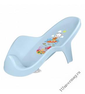 Горка для купания детей с декором (светло-голубой)