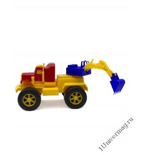 Автомобиль Трак Эксковатор, желтый