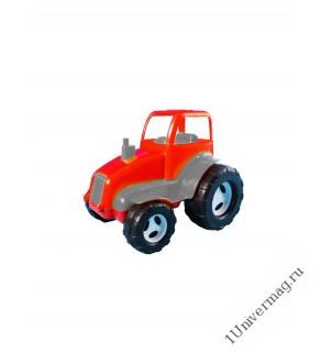 Трактор, красный