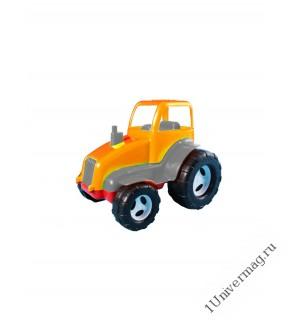 Трактор, оранжевый