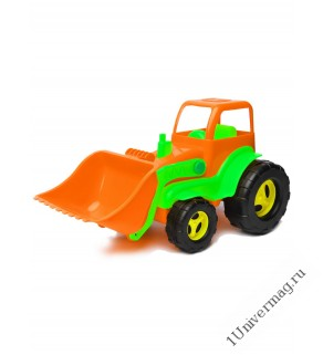 Трактор С Ковшом, оранжевый