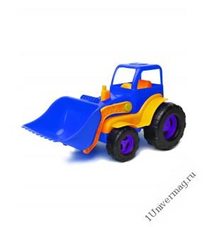 Трактор С Ковшом, синий
