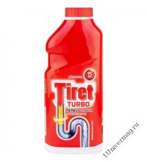 Гель Tiret Turbo для устранения сложных засоров (красный) 500 мл