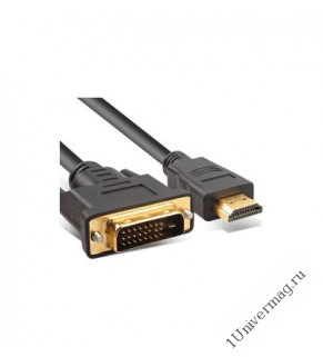 Кабель DVI <--> HDMI M, 1.8 м.