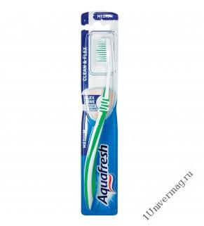АКВАФРЕШ зубная щетка CLEANLINESS AND FLEXIBILITY Чистота и Гибкость