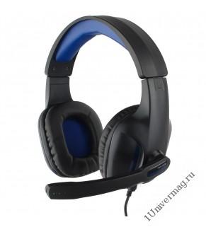 """Гарнитура игровая Gembird MHS-G205, код """"Survarium"""", черный/синий"""