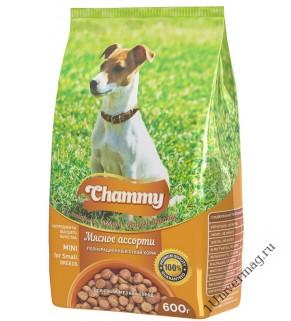 Чамми (Chammy) Мясное Ассорти для взрослых СОБАК мелких пород, 600гр