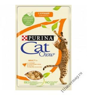 КЭТ ЧАУ курица-кабачок для взрослых кошек, 85гр