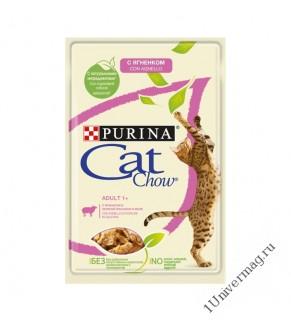 КЭТ ЧАУ ягненок-зеленая фосоль для взрослых кошек, 85гр
