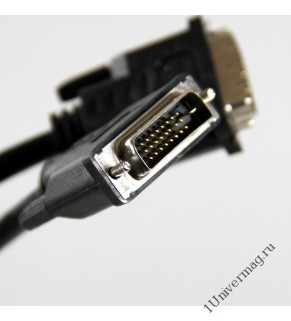 Кабель DVI-D вилка - DVI-D вилка Dual Link, 1.8 м.