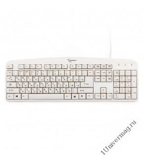 Клавиатура Gembird KB-8350U, USB, бежевый, лазерная гравировка символов
