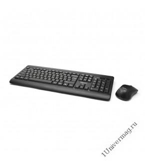 Комплект клавиатура+мышь беспров. Gembird KBS-8001, 2.4ГГц, черный