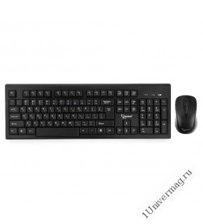 Комплект клавиатура+мышь беспров. Gembird KBS-8002, 2.4ГГц, черный