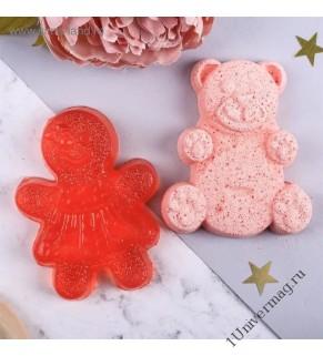 Детский набор фигурное мыло и фигурная бомбочка
