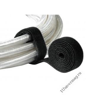 Лента-липучка (стяжка) 5м х 25мм, черная