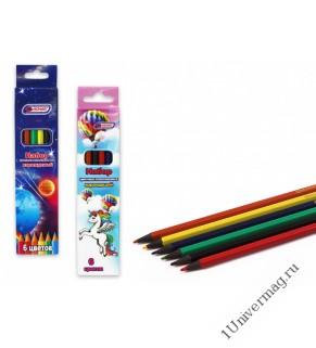 Набор цветных карандашей 6 цв