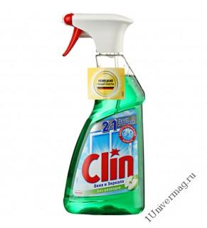 """Средство Clin 2 в 1 Яблоко """"Блеск и защита"""" для мытья окон и стекол 500 мл"""