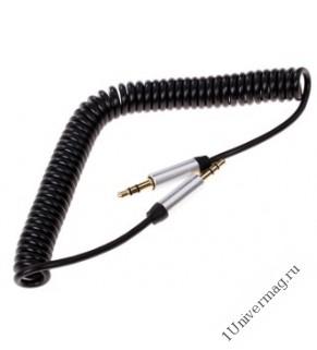 Кабель соединительный Pro Legend, 3.5 Jack (M)  - 3.5 Jack (M) спиральный кабель, черный, 2м.