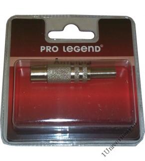 Антенный штекер металлический, вилка, прямой, Pro Legend