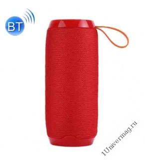 Портативная стерео Bluetooth колонка 5w*2, красная