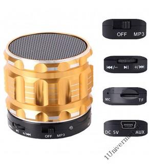 Портативная Колонка Bluetooth 3w mini, золотая
