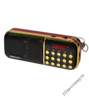Радиоприемник BKK-851 (2 microSD, USB/TF/FM, AUX,часы)