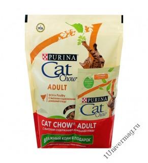 КЭТ ЧАУ спешкэафелин 3 в 1 для взрослых кошек, 400гр +85гр