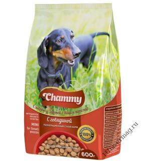 Чамми (Chammy) Говядина для взрослых СОБАК мелких пород, 600гр