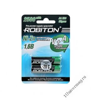 Аккумулятор ROBITON 2500NZAA-2 Ni-Zn AA 2500мВтч, 1500мАч BL2
