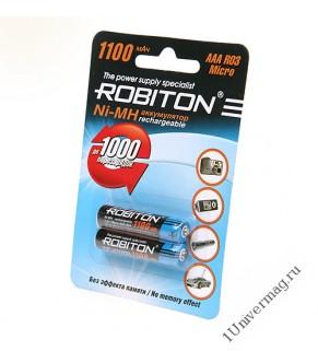 Аккумулятор ROBITON 1100MHAAA-2 упак200 BL2