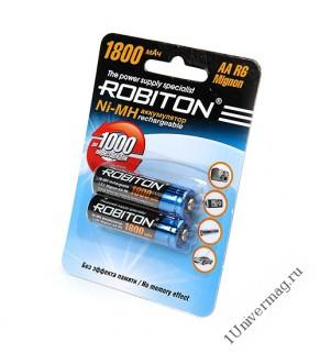 Аккумулятор ROBITON 1800MHAA-2 BL2