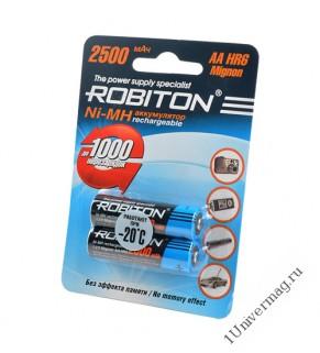Аккумулятор ROBITON 2500MHAA-2 BL2