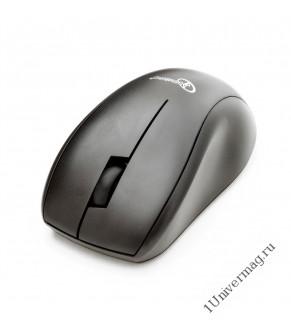 Мышь беспров. Gembird MUSW-100, черн, 2кн.+колесо-кнопка, 1200DPI, 2.4ГГц