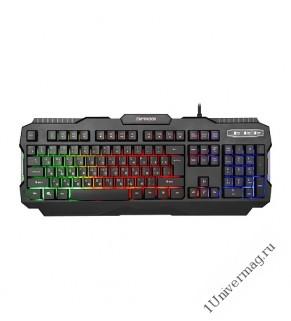 """Клавиатура игровая Гарнизон GK-330G, подсветка, код """"Survarium"""",  USB, черный, антифантомные  клавиш"""