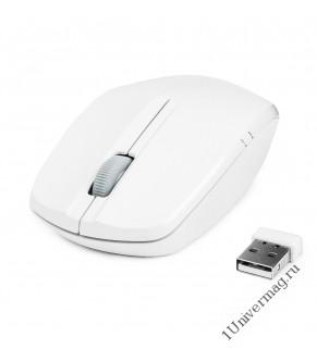 Мышь беспров. Gembird MUSW-207W,бел, 2кн.+колесо-кнопка, 2.4ГГц